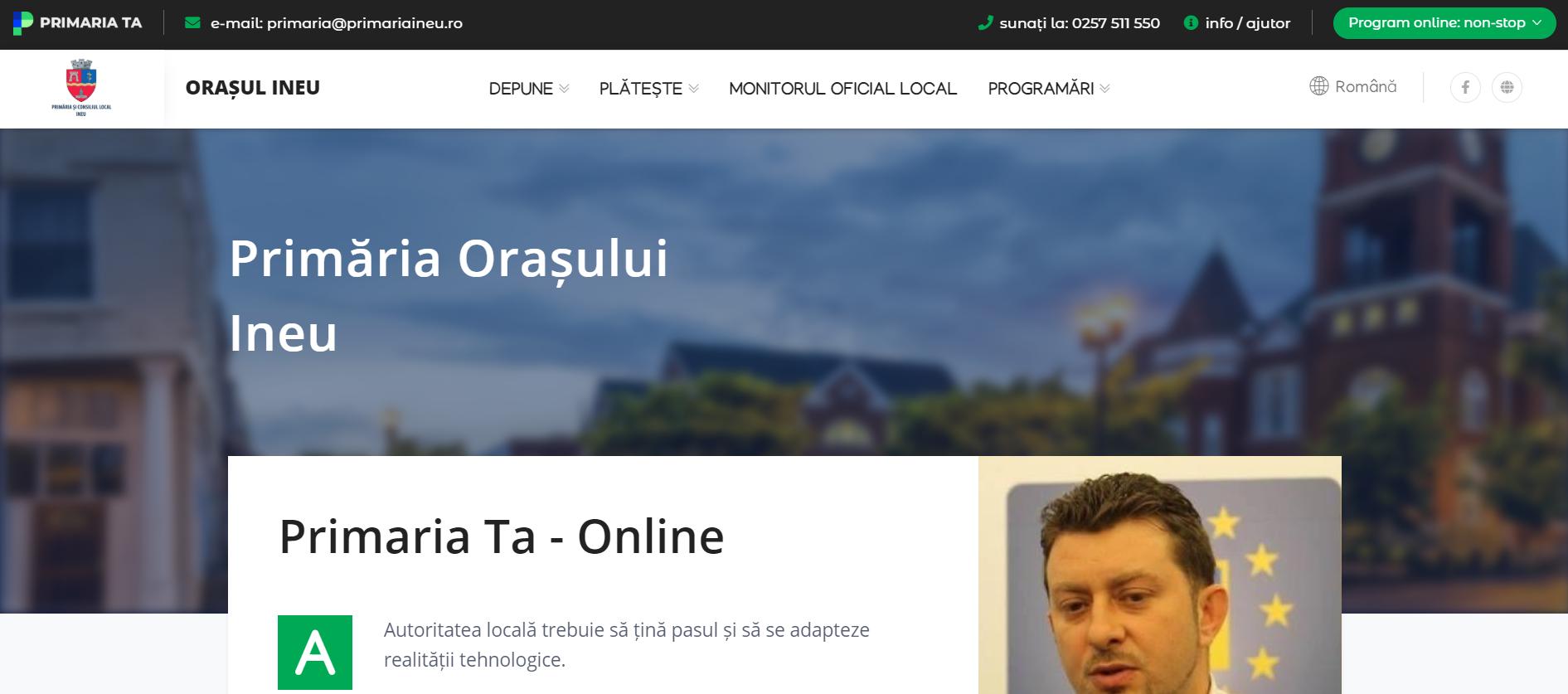 Primăria Orașului Ineu Online